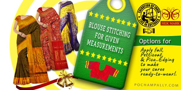 Pochampally  custom blouse stitching