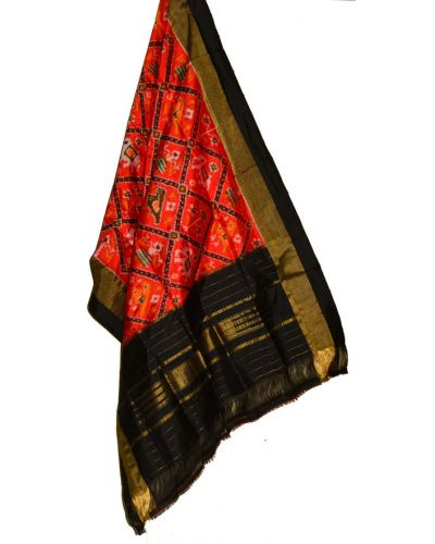 SD138 - Pochampally Ikat Silk Dupatta